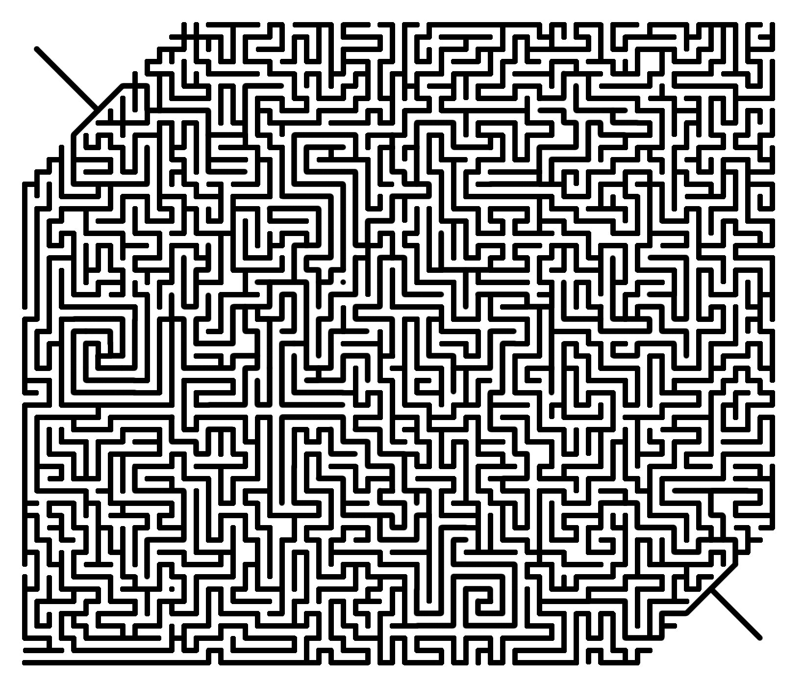 Moderate Difficult Maze