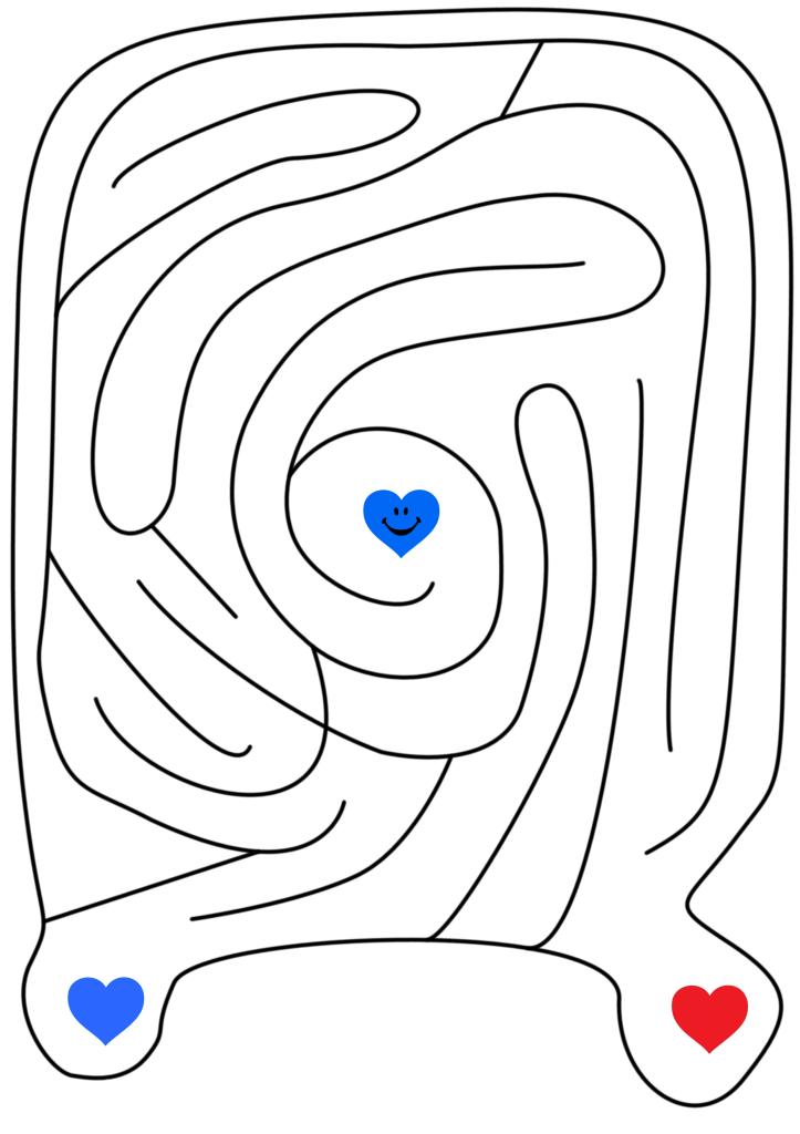 blue heart maze
